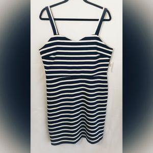 Old Navy striped dress in navy and white